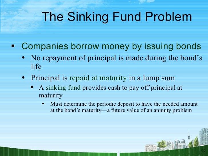 10 year sinking fund plan example queensland