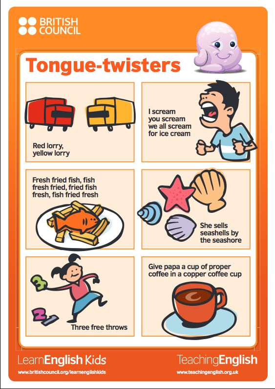 example of tongue twister words