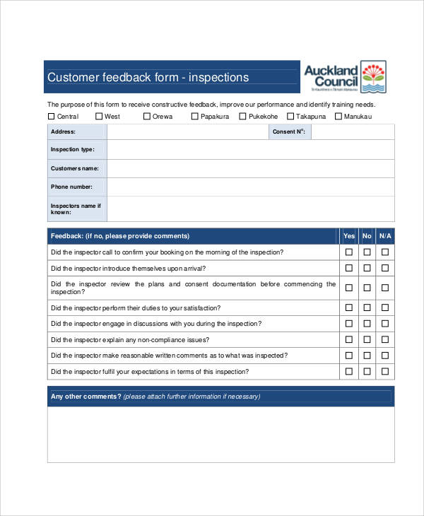 what is an example of feedback