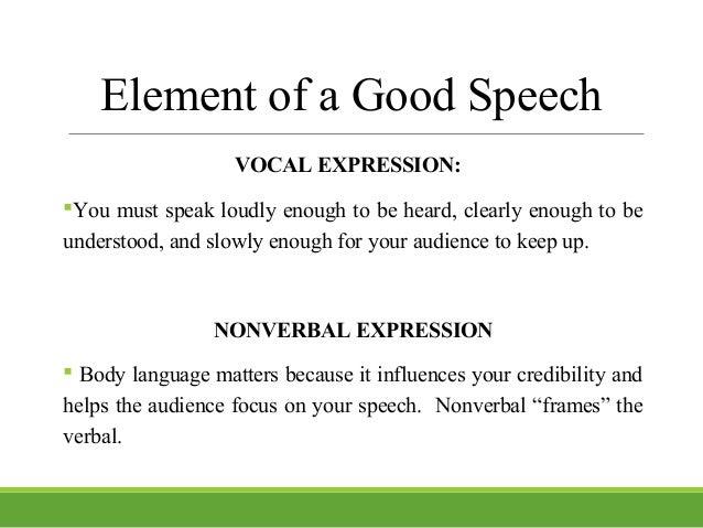 an example of a good speech