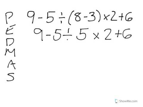 example of order in math