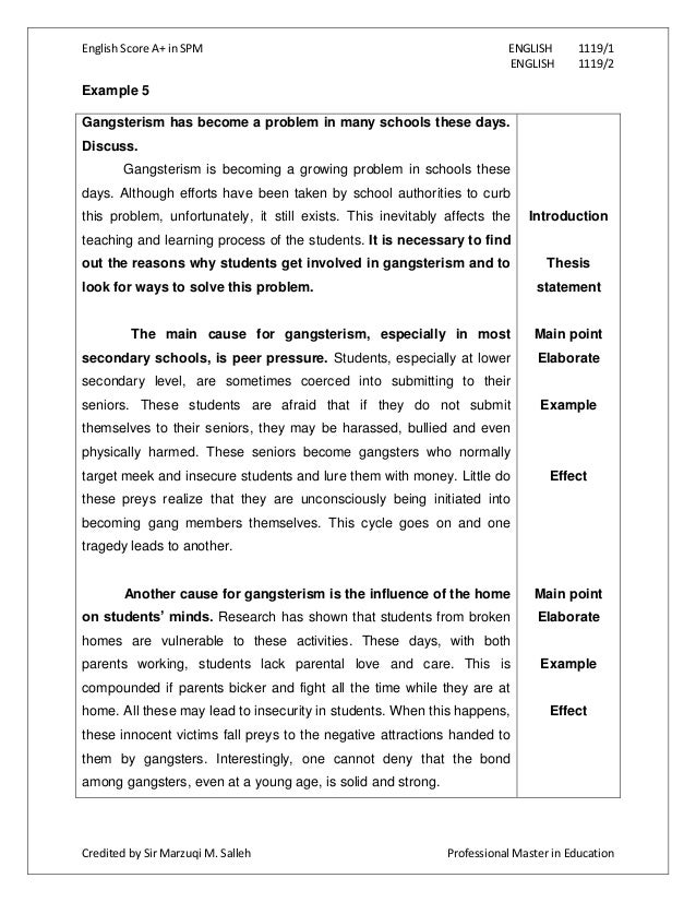 example of article writing spm
