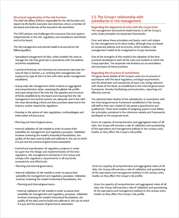 it risk assessment example report