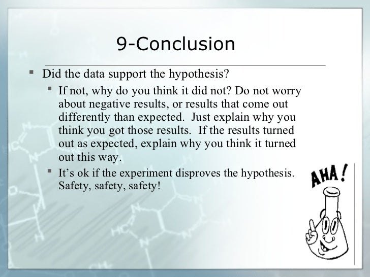 example of hypothesis and conclusion
