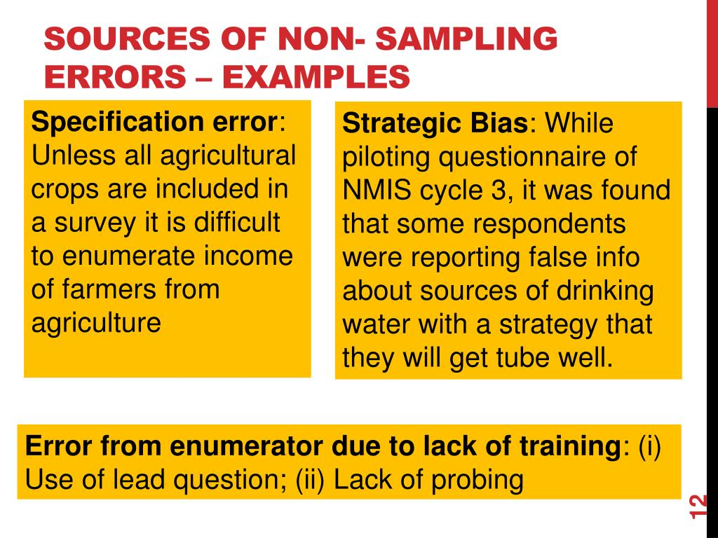 what is an example of non sampling error