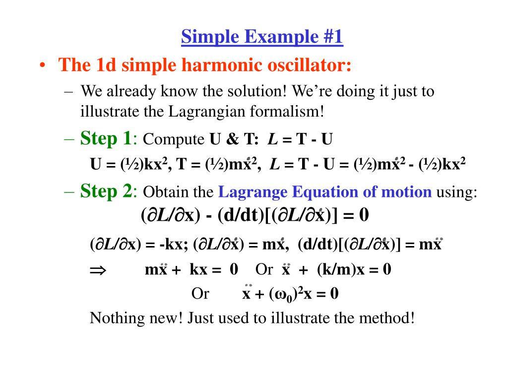 hamiltonian equation of motion example