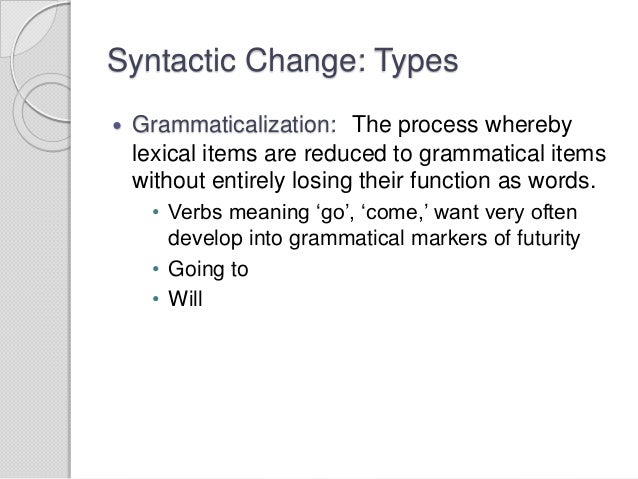 example of language change at top