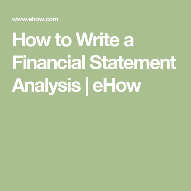 how to write a financial statement example