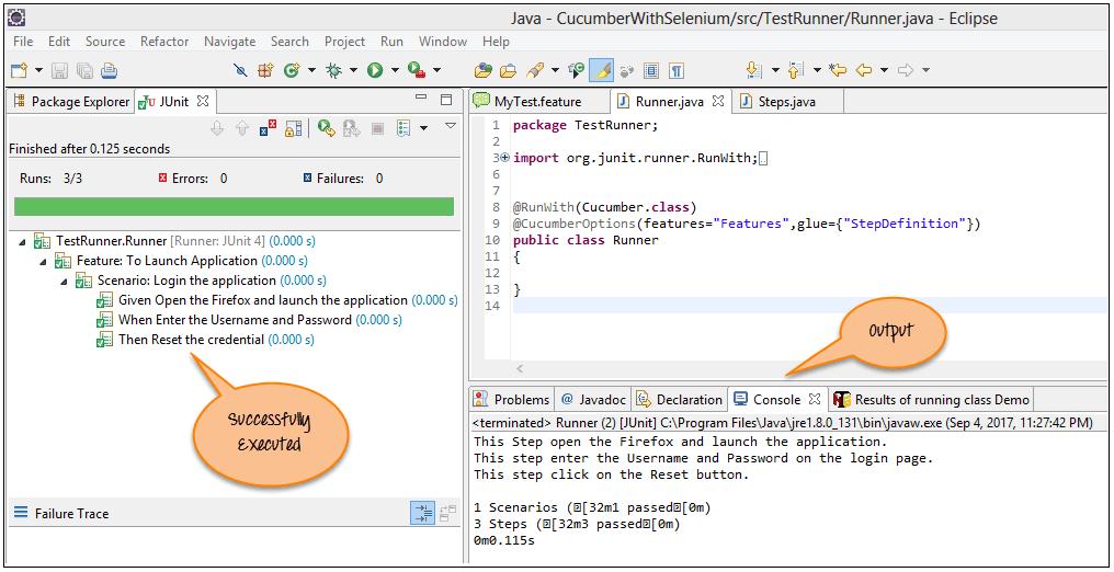 selenium webdriver login example java