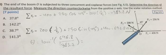 coplanar concurrent forces example problems