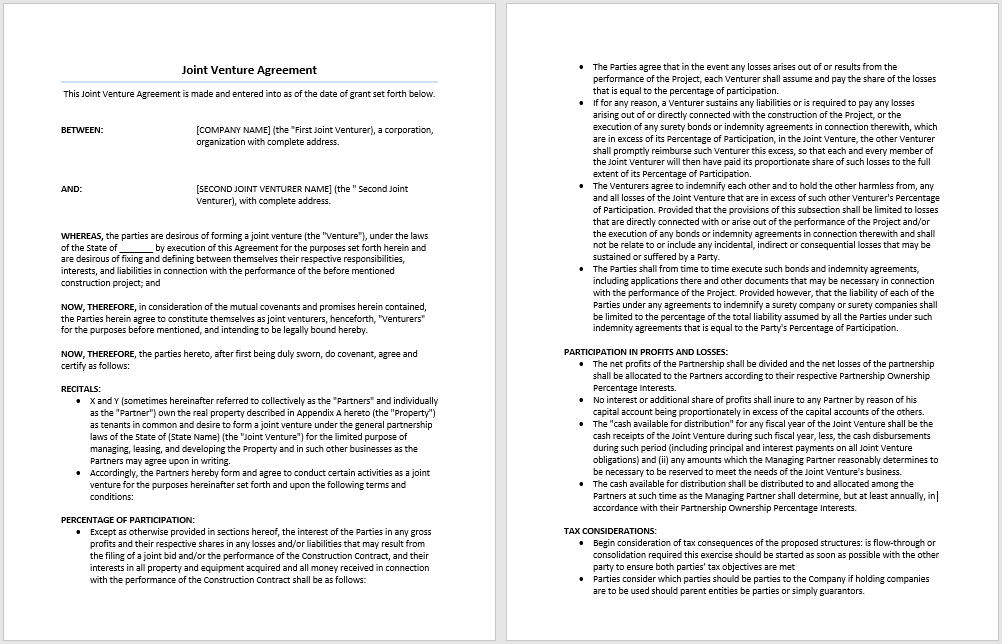 joint venture equity method example