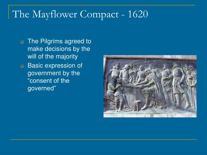 how was the mayflower compact an example of direct democracy