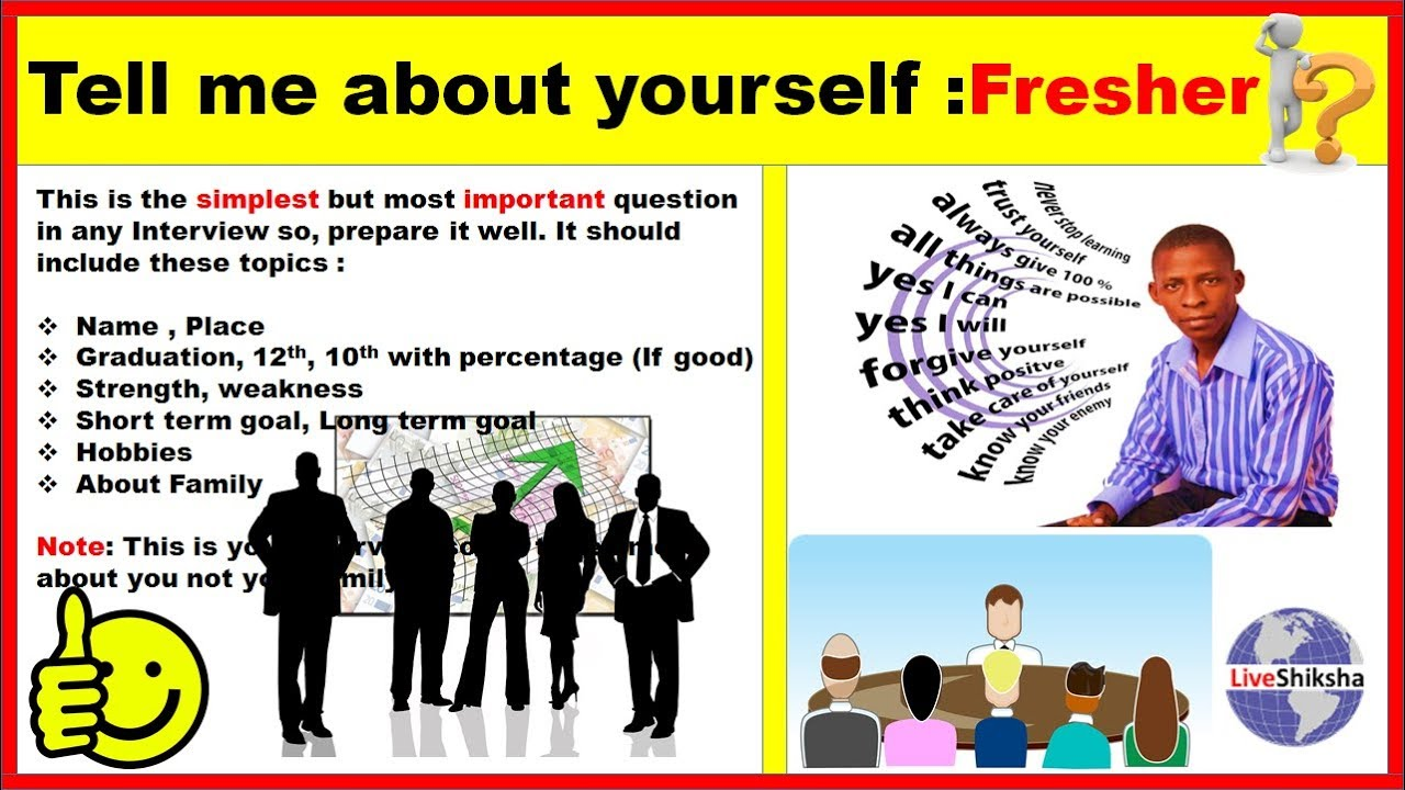tell about yourself example for freshers