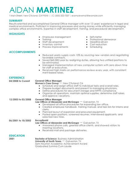 executive assistant cv australia example