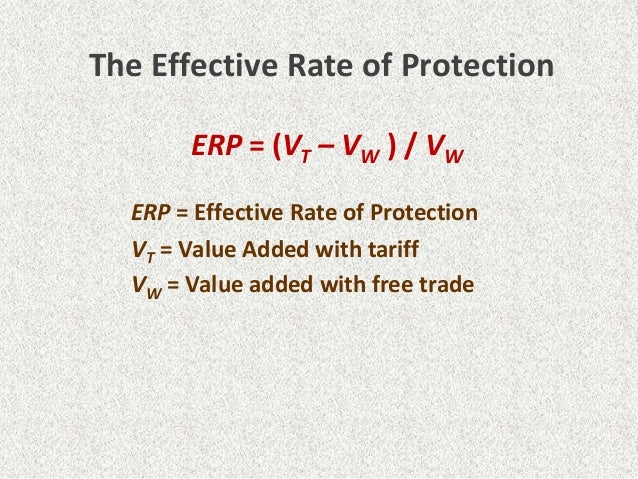 effective rate of protection example