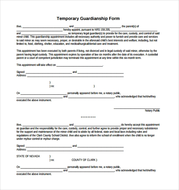 example of will for guardianship