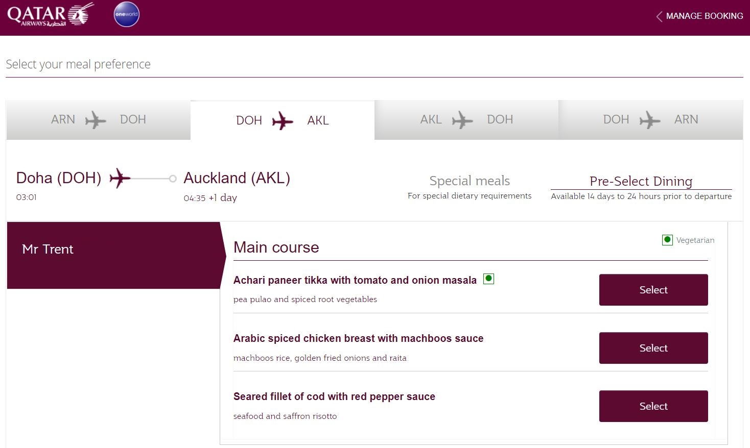 frequent flyer number qatar airways example