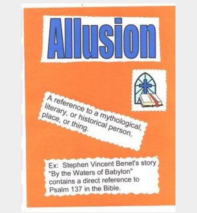 what is an example of an allusion