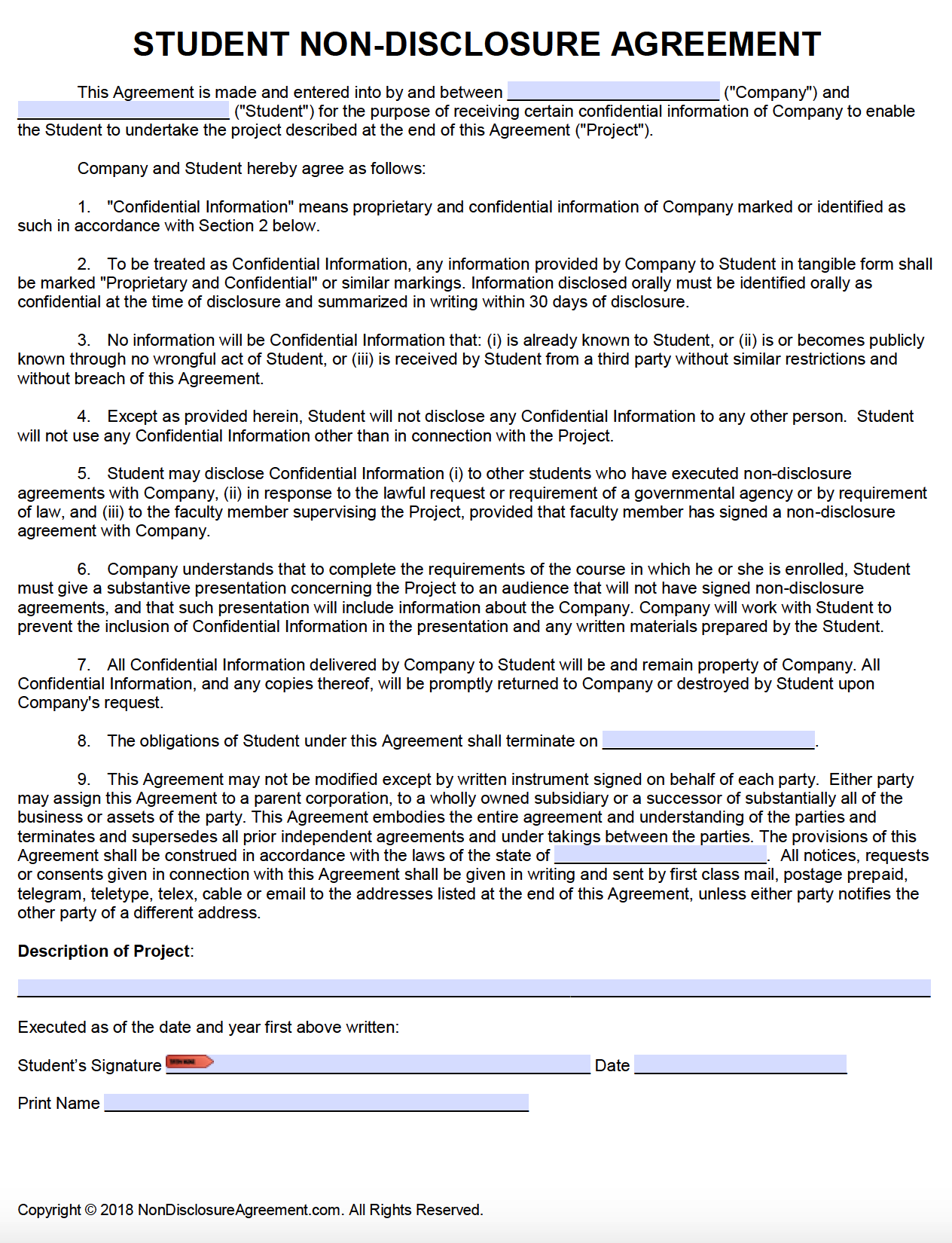 copyright statement example for video