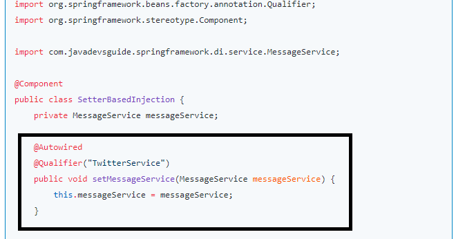 spring dependency injection example step by step