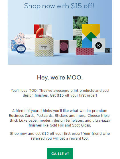 refer a friend email example