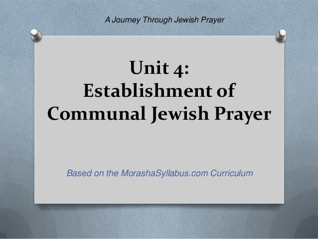 what is an example of a communal prayer