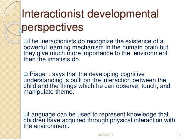 innatist theory language acquisition example