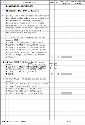bill of quantities for building construction example