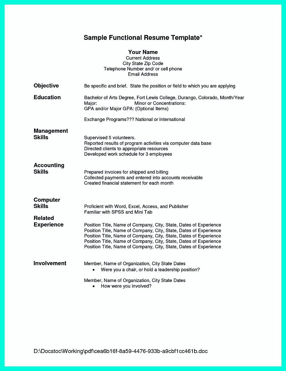 example on how to make a good resume