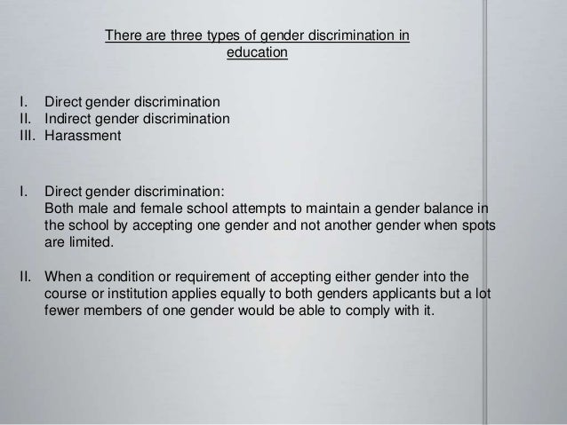 example of direct discrimination in school