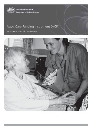 example submission to a source for funding in aged care