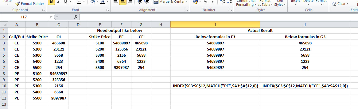 index match function excel 2007 example