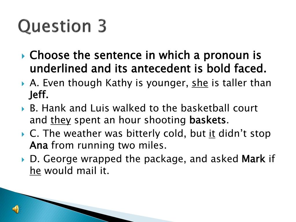 give an example of an antecedent