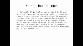 critical analysis example of a scientific paper