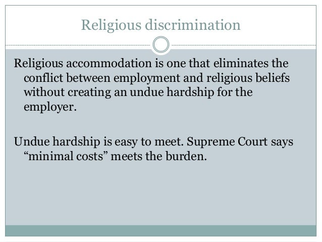 what is an example of a reasonable discrimination