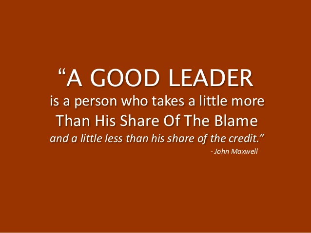 a good leader leads by example