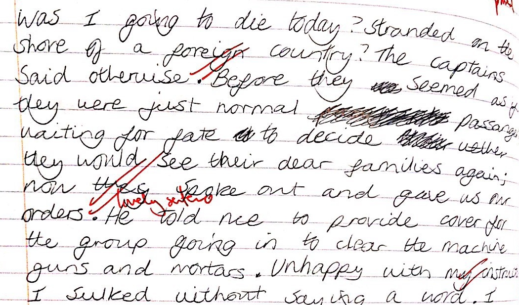 an example of creative writing