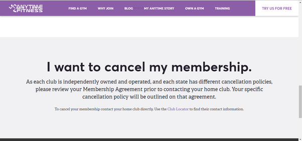 anytime fitness cancellation letter example