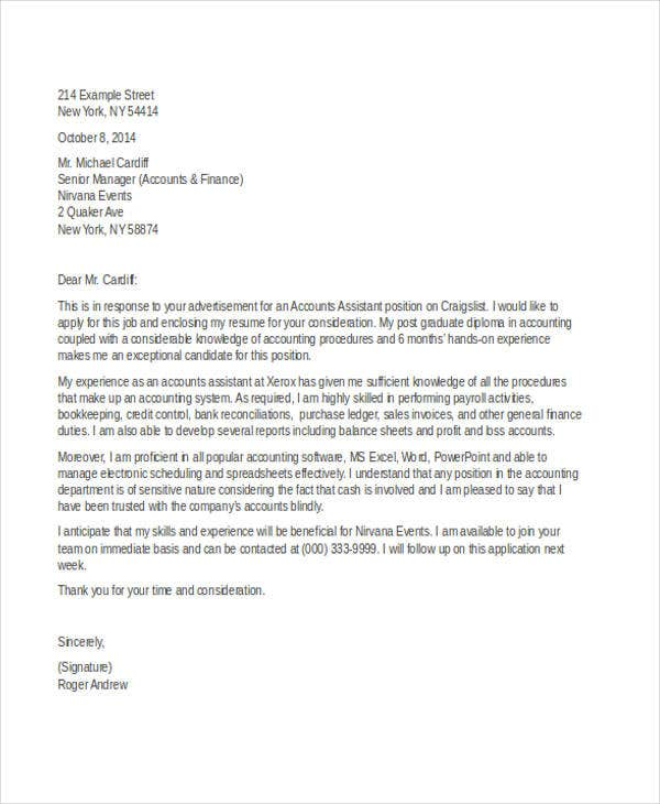 example of application letter for accountant