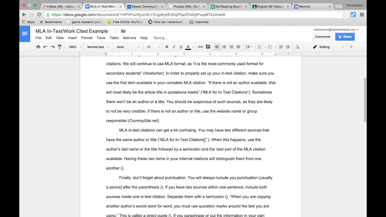 example of an apa in text citation
