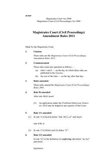 draft a complaint example magistrates court