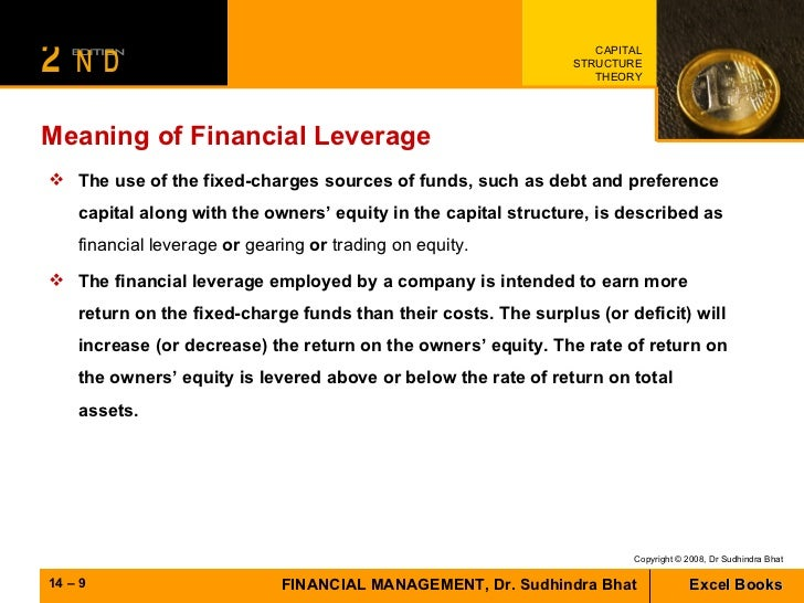 meaning of financial leverage with example