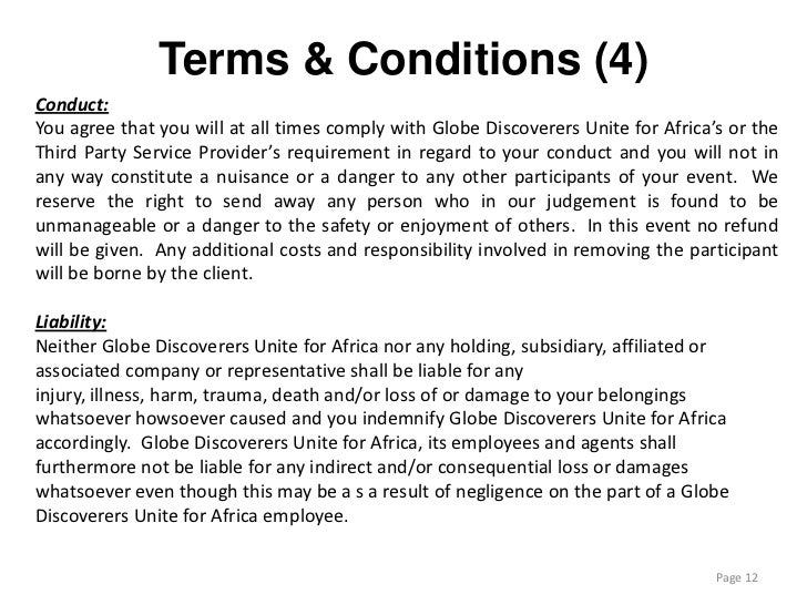 competition terms and conditions example