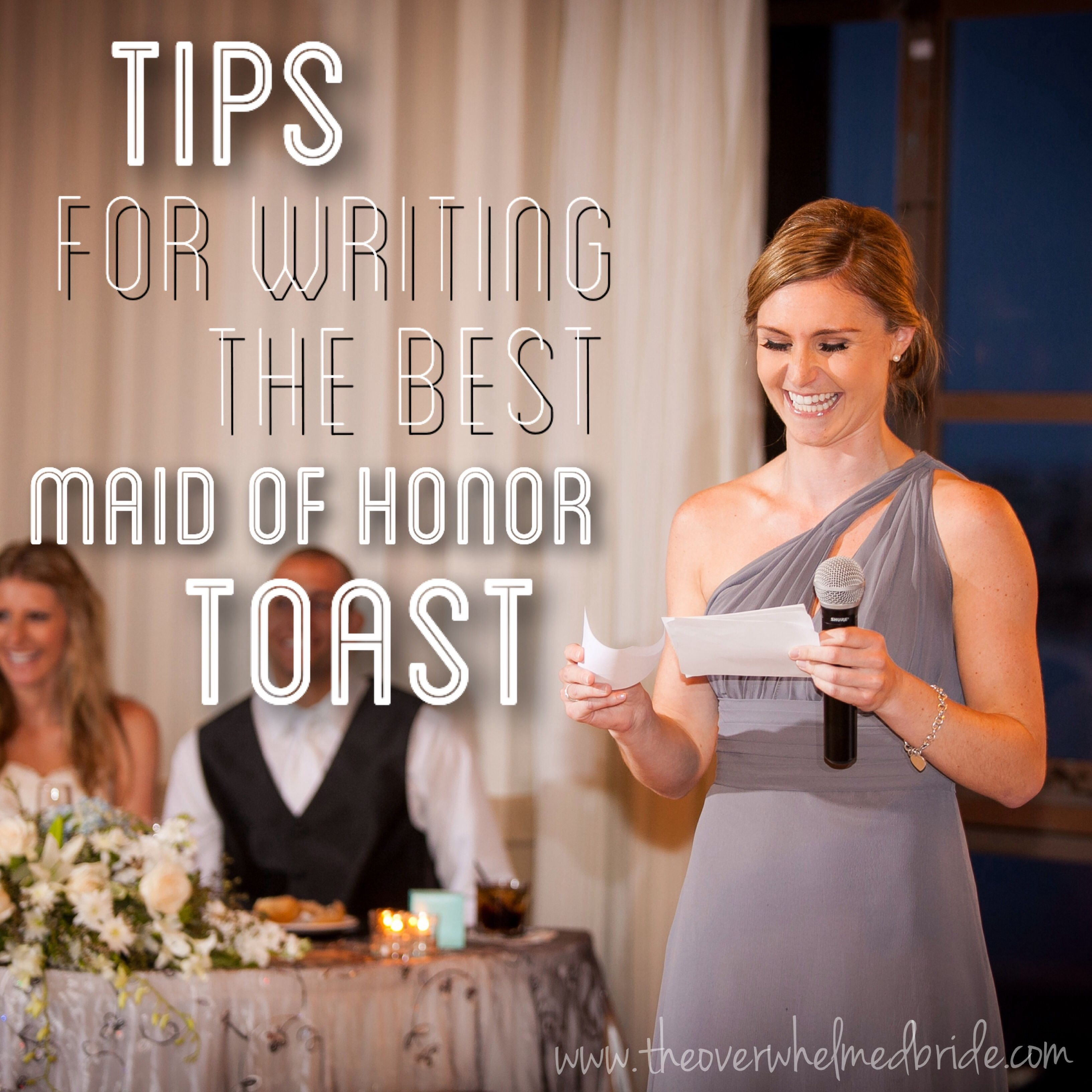 example maid of honor speech for friend