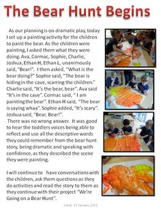 learning stories and reflection example in early childhood education