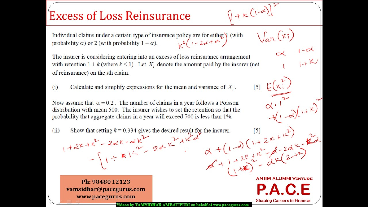 what is reinsurance with example