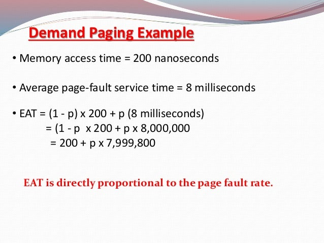 effective access time page fault example