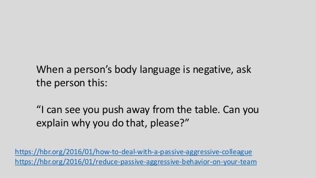 example of being passive behaviur
