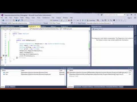 example of dependency injection in c#