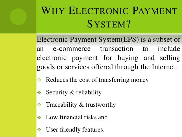 example of electronic payment system
